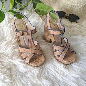 DOLCE VITA - Taiga Cork Heeled Sandals